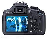 atFoliX Lámina Protectora de Pantalla Compatible con Canon EOS 1300D / EOS Rebel T6 Película Protectora, Ultra Transparente FX Lámina Protectora (3X)