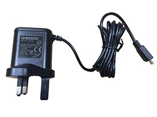 BOSCH Genuine Charger (Version to Fit: Bosch IXO 5 Cordless Screwdriver) c/w Stanley KeyTape (Image Shown)