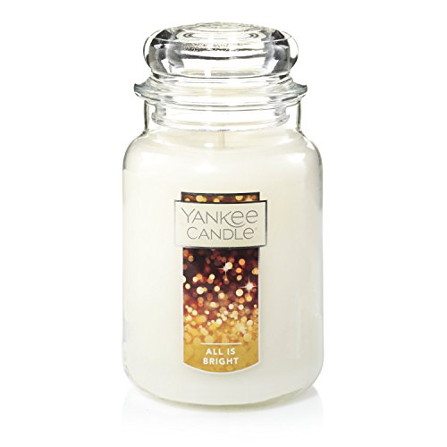 Yankee Candle All is Bright Scented Premium Paraffin Grade Candle Wax with up to 150 Hour Burn Time, Large Jar