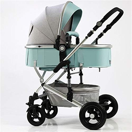 Lowest Price! Qivor Baby Carriage Baby Stroller High Landscape Light Can Sit Reclining Folding Shock...