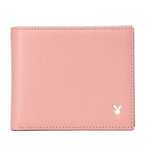 Portátil Billetera corta de gran capacidad para mujer, billetera de cuero simple y elegante, billetera multifuncional de mano, con caja de regalo (4.45x3.62x0.79 pulgadas) Ventana de identificación ex