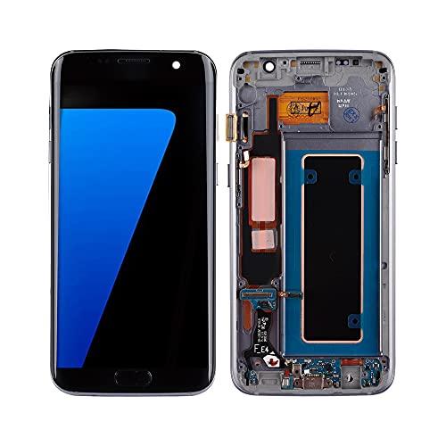 SwarKing OLED kompatibel mit Samsung Galaxy S7 Edge LCD Display Touch Screen Digitizer (Schwarz mit Rahmen) Ersatzteile mit kostenlosen Werkzeugen
