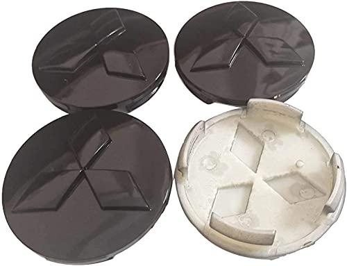 JIEMIANY 4 Tapas De Cubo De Cubierta Central De Rueda De Coche para Mitsubishi Outlander 3.0 Lancer 60mm,La Rueda Logo Insignia Coche Accesorios,Accesorios De Estilo
