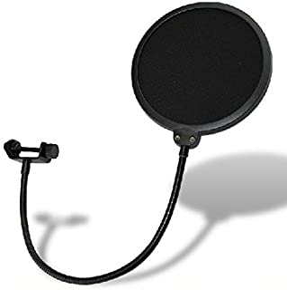 Weymic® Studio Wind Screen Pop Filter Mask Shield-Studio Pop Filter/360° Flexible Gooseneck Holder Microphone Pop Filter 6...