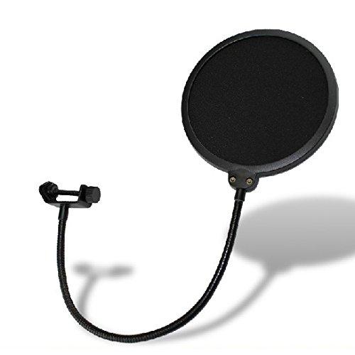 Weymic® Studio Windschutz Pop Filter Maske Shield-Studio Pop Filter/360° Flexible Schwanenhals-Halterung Mikrofon Popfilter 15,2 cm Doppel-Mesh-Bildschirm Essential Recording Studio Umgebung Equipment