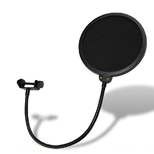 Weymic® Studio Wind Screen Pop Filter Mask Shield-Studio Pop Filter/360° Flexible Gooseneck Holder Microphone Pop Filter 6-Inch Double Mesh Screen Essential Recording Studio Environment Equipment