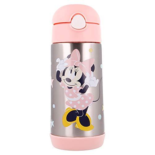 Borraccia Bambini Acciaio Inox Con Cannuccia - Senza BPA- Termo 530 ml Minnie Indigo Dreams
