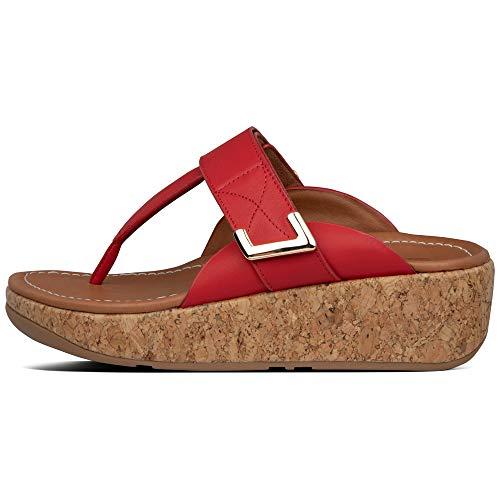 Fitflop Remi Adjustable Toe-Thongs, Sandalias Planas para Mujer