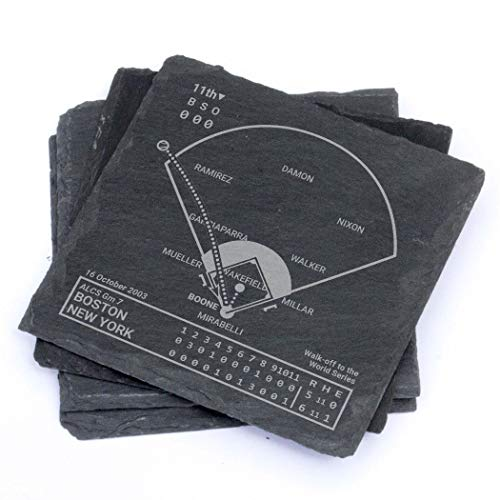 Greatest Yankees Modern Plays - Slate Coasters (Set of 4) 2003 Alcs Game 7