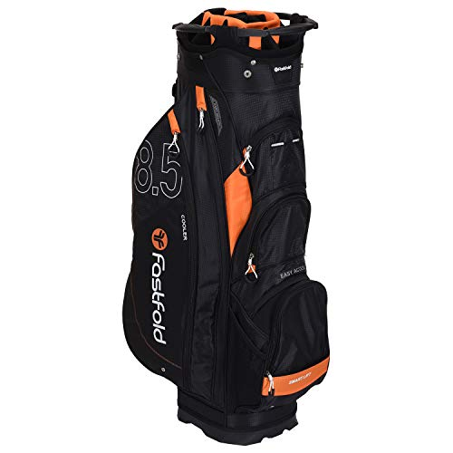 FASTFOLD Golf-Trolley Unisex Cart Bag – Schwarz/Orange