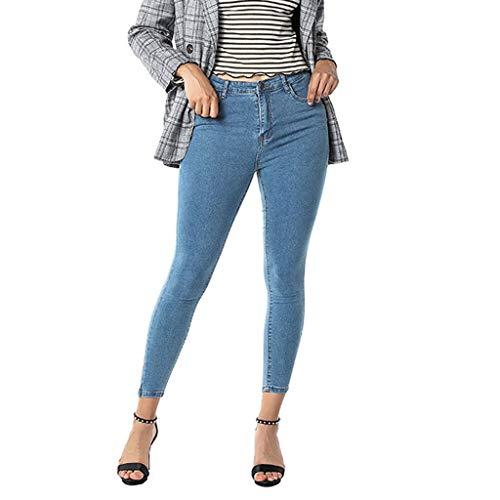 SSUPLYMY Damen Skinny Jeanshose Hohe Taille Stretch Jeans Mode Slim Klein Fuß Denim Hosen Bequem Casual Lange SK Jeans Solid Lange SK Jeans
