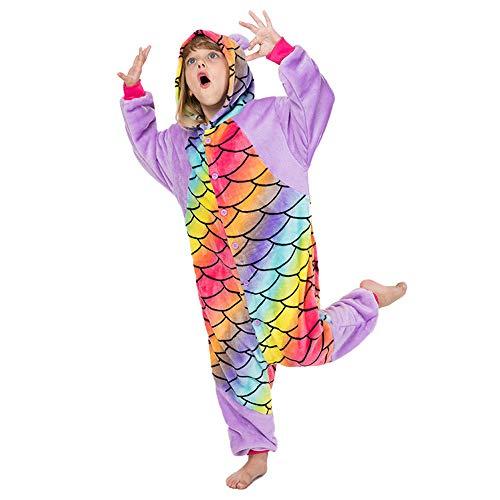 Fantasía Animal Pijamas, Panda Traje Colorido de los niños para Niños Party Up Vestido, Juegos de rol y Cosplay,130