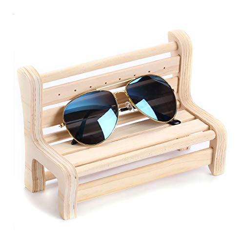 Houten Glazen standhouder zonnebril houder glazen display standaard Zonnebril vertoningsrek Optical Shop Raamdecoratie (Color : Bench)