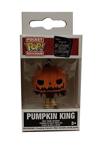 Funko - Pocket Pop Nightmare Before Christmas Portachiavi con anello Pumpkin King, Multicolore (FK6577)