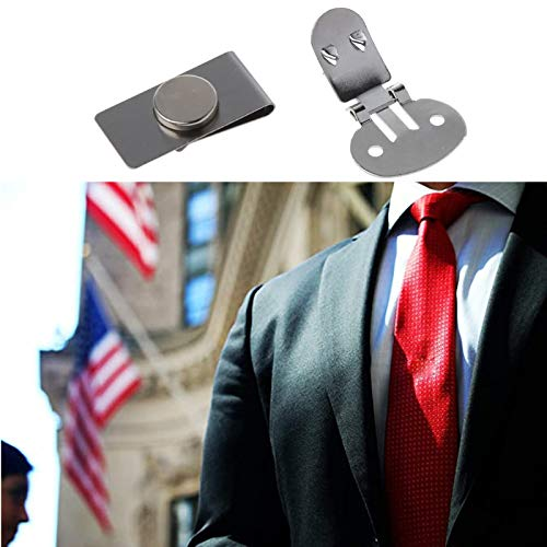 5PCS Invisible Magnetic Tie Stay,Men's Suit Jacket Stainless Steel...