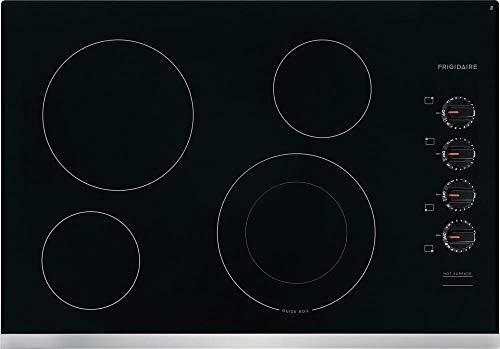 Frigidaire FFEC3025US 30 Inch Electric Smoothtop Style Cooktop with 4 Elements, in Stainless Steel