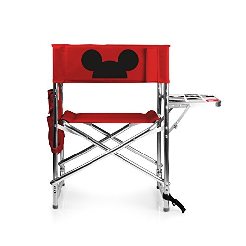 PICNIC TIME Disney Classics Mickey Mouse Portable Folding Sports Chair, Red