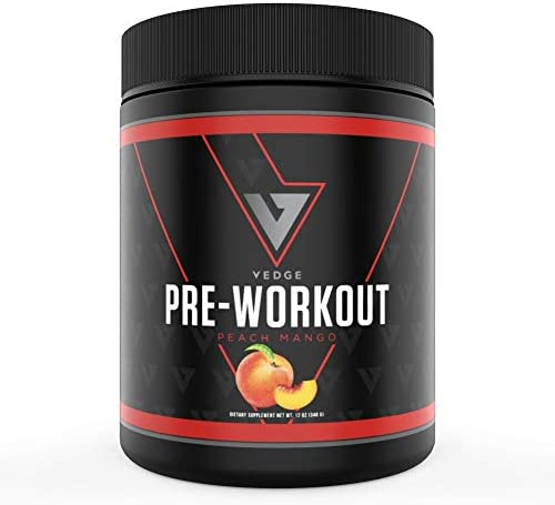 Vedge Nutrition Peach Mango Pre Workout Vegan Pre Workout Dairy Free Soy Free Non GMO Long Lasting product image