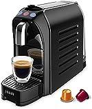 JASSY Cafetière à Expresso Capsules, Compatible avec les Capsules Originales Nespresso, Machine à Café Pression de 19 Bars avec Plaques Latérales Remplaçables, Noir (JS200)
