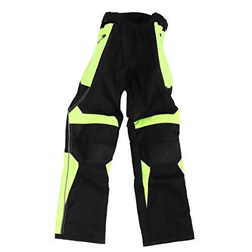 Pantalones de motocicleta Pantalones de trabajo de carga para hombres Pantalones de montar Pantalones reflectantes de carreras antidesgaste transpirables(M)