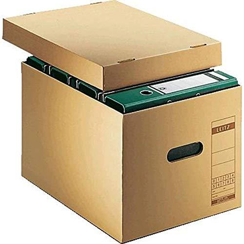 Leitz 60810000 Archiv-Schachtel, A4, mit Deckel, naturbraun thumbnail