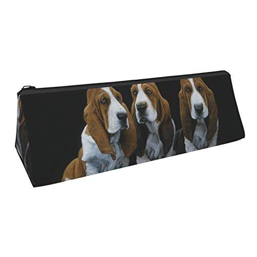 Estuche para lápices, lindos cachorros de Basset Hound, bolsa de cosméticos con...