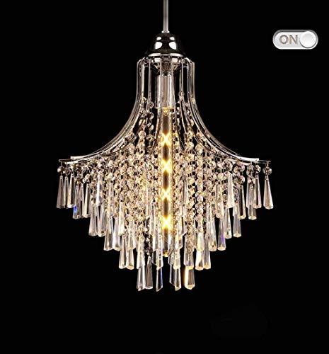 Lámparas de araña, Lámparas colgantes Cristal Chandelier, K9 Gotas de lluvia Iluminación, Sala de estar Dormitorio Restaurante Lámpara de cristal, araña, con lámpara de luz de luz Color: sin fuente de