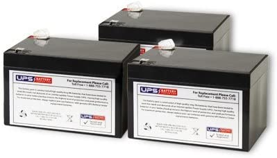 Set of 3 - Rad2Go Max 61% OFF Great Battery E36 Long Beach Mall UB12120 White Replacement