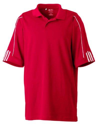 adidas Golf Mens Climalite 3-Stripes Cuff Polo (A76) -P0WER RED/ -2XL