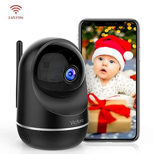 Victure Updated Dual Band 2.4G 5G Telecamera WIFI FHD 1080P Telecamera di Sorveglianza Videocamera IP Interno con Visione Notturna Audio, del Rilevamento del Movimento attraverso IPC360 Home App
