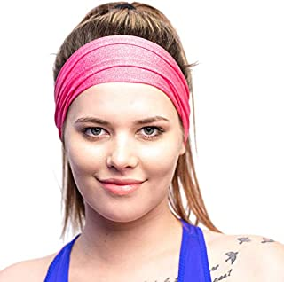 Red Dust Active Lightweight Sports Headband - Non Slip...