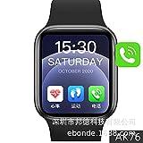 Zwbfu AK76 Smart Watch 1.75InCH Gran Pantalla DE Juego Reloj DE Juego 3D5 Set UI Bluetooth Llamada Reloj de la calificación cardíaca Presione la Prensa de Sangre(Negro)