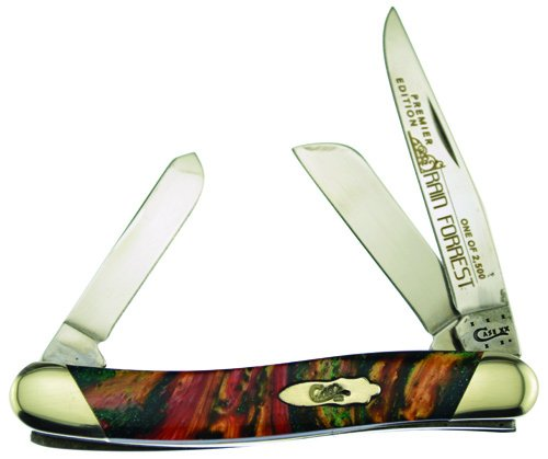 CASE XX Slant Series Rain Forrest Corelon Medium Stockman 1/2500 Pocket Knife Knives