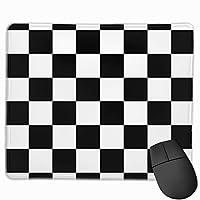 """チェッカードブラックホワイトスクエアレースレース マウスパッド ゲーミング オフィス高級感 おしゃれ 防水 耐久性が良い 滑り止めゴム底 ゲーミングなど適用 マウスの精密度を上がる9.8""""x 11.8"""""""