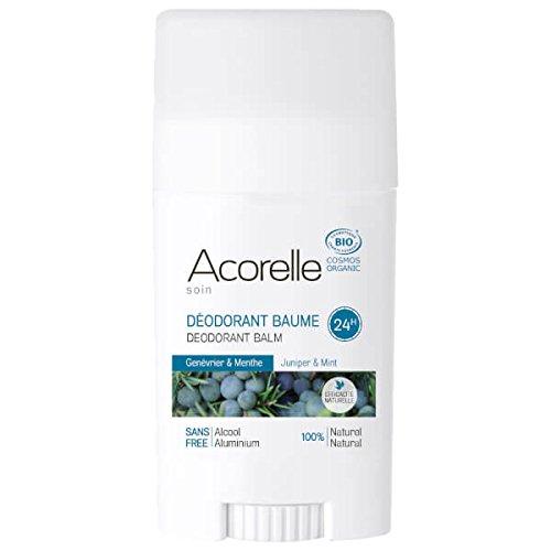 ACORELLE Bálsamo desodorante orgánico para juníbar y menta 40 g