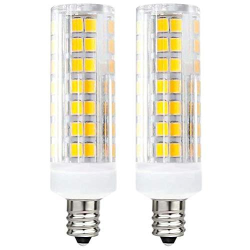 E11 LED Bulb 50W Halogen Bulbs Replacement, 75W JD T4 E11 Mini Candelabra Base 110V 120V 130 Voltage Input Light Bulbs, Pack of 2 (75W Daylight 6000K)