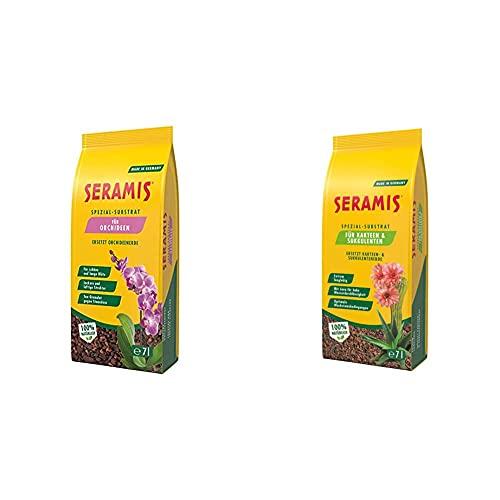 Seramis Spezial-Substrat für Orchideen, 7 l – Orchideensubstrat mit Tongranulat und Pinienrinde & Ton-Granulat als Pflanzenerden-Ersatz für Kakteen und Sukkulenten, Spezial-Substrat, 7 Liter