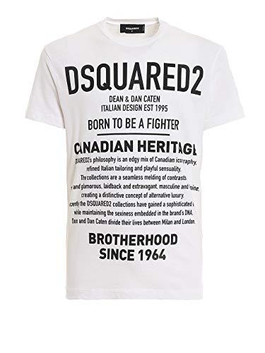 DSQUARED2 Canadees Erfgoed T-Shirt Bianco Uomo