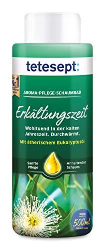 tetesept Aroma-Pflege-Schaumbad Erkältungszeit – Mit ätherischem Eukalyptusöl – Lang anhaltender Schaum – 500 ml