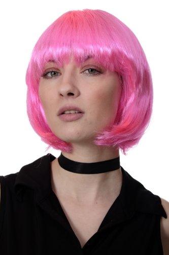 WIG ME UP Peluca corte BOB, pink, Disco, GO GO girl. PW0114-PC5