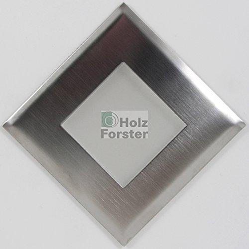 MEISTER FLAT Quadro LED Einbauleuchte Edelstahl, 0,4 Watt
