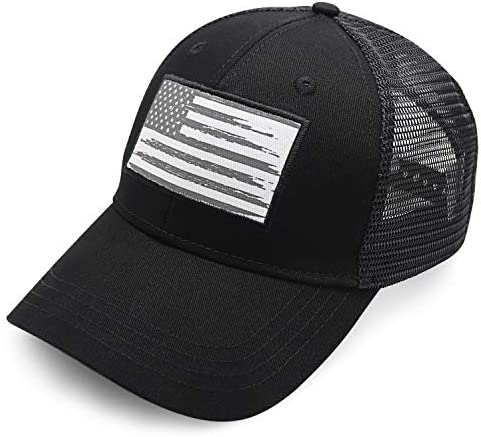 BBI Flags American Flag Hat Black Hats for Men and Women Comfortable and Easy to Wear Baseball product image