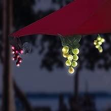 Solar 64-Bulb LED Grapevine Garland Umbrella String Lights