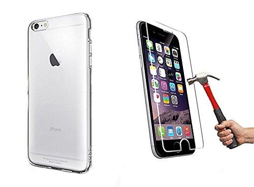 2in1 Protector de Pantalla para iPhone 6Plus 6SPlus + silicon Funda Case transparente