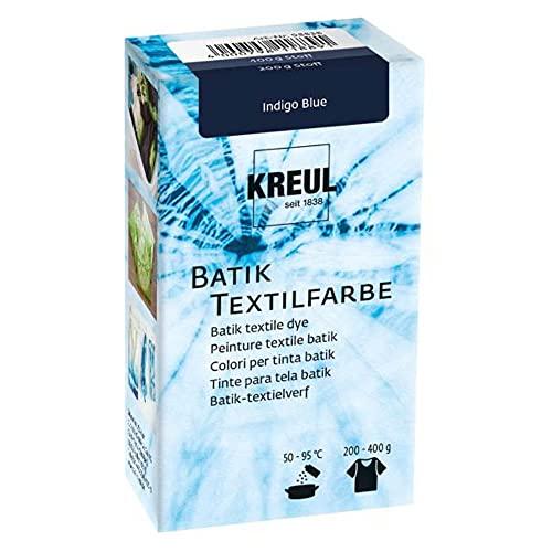 Kreul 98538 - Batik-Textilfarbe Indigo Blue, 70 g, Farbpulver zum Batiken und Färben von Textilien
