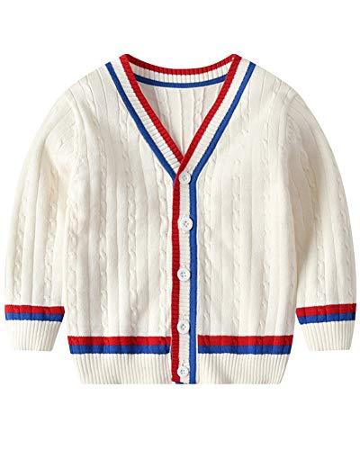 Niños Niñas Cardigan Chaqueta De Punto Jersey Manga Larga Suéter Pullover
