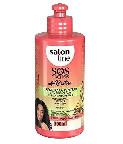 Salon Line Creme Para Pentear SOS Cachos + Brilho 300ml