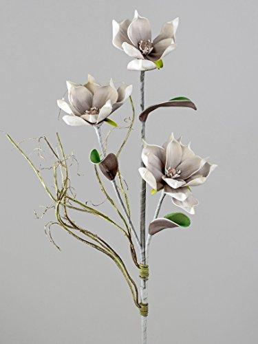 Kunstblume Magnolienzweig grau - weiß 674654