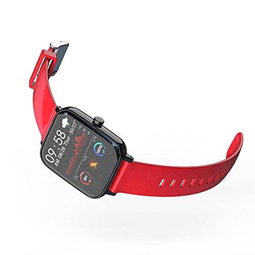Yumanluo Smart Band Smart Watch,Reloj Elegante Impermeable de los Deportes, Pulsera-Rojo del Control de la presión Arterial del Ritmo cardíaco,Pulsera Inteligente con Pulsómetro