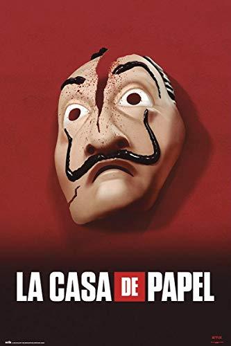Close Up La Casa De Papel Poster Haus des Geldes Maske (61cm x 91,5cm) + Ü-Poster